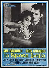 CINEMA-manifesto LA SPOSA BELLA ava gardner, dirk bogarde, v. de sica; JOHNSON