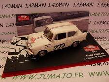 voiture 1/43 IXO altaya Rallye Monte Carlo : FORD anglia 1963 Vinatier