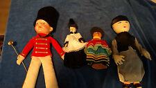 Lot: of 4 Antique, Vintage Dolls Handmade Vintage