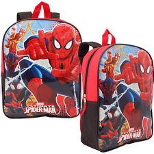 "15"" Backpack Marvel Spider-Man Kids Boys School Bag Mochila"
