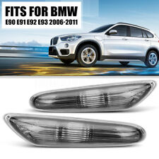 2X Left+Right Side Marker Turn Signal Lights Smoke For BMW E90 E91 E92 E93 06-11