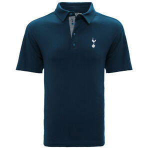TOTTENHAM HOTSPUR BLUE ADULT PREMIUM POLO SHIRT SMALL-XXL OFFICIALLY LICENSED