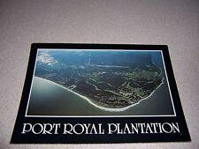 1980s AERIAL-VIEW PORT ROYAL PLANTATION HILTON HEAD SOUTH CAROLINA VTG POSTCARD