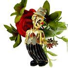 Vintage Creepy Clown Pin Hiding Flowers Halloween Stranger Danger Cosplay Enamel