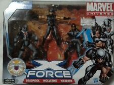"Marvel Universe 3.75"" Wolverine Deadpool Warpath X-force Set"