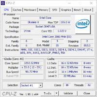 QTY 1x Intel Xeon Gold ES CPU QLQ9 2.8Ghz 16-cores LGA3647