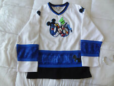 Walt Disney World 2006 Kids XL Hockey Jersey White Blue
