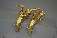 """Brass wall mtd large 3/4"""" belfast cuisine robinets anciens récupérés et entièrement refurbed"""