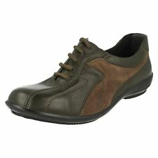 Ladies Easy B Lace up Casual Shoes Emma Olive/olive UK 5 EE