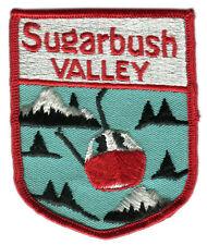 "1970'S SUGARBUSH VALLEY WARREN VERMONT 3.75"" SKIING VINTAGE SOUVENIR PATCH"