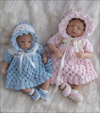 Knitting Pattern TO KNIT 8-13in Dolls Clothes 'Ella' Set, Dress, Bonnet, Shoes