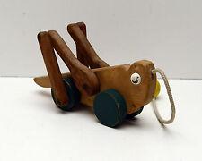 Vintage Pull Toy Grasshopper Original c1950