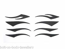 Black Eyeliner Tattoo Stickers - Set of 4 designs