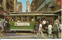 San Francisco, Powell & Mason STs. Trolley car.Postcard