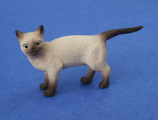 Miniature Dollhouse Siamese Cat With Pointed Tail 1:12 Scale New