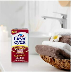 Clear Eyes Maximum Redness Relief  Eye Drops LARGE 30ml 04/2023