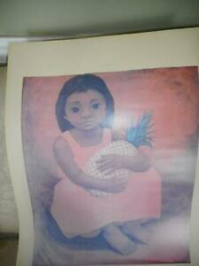 "Luis Anaya ""Nina Con Pina"" offset lithograph print"