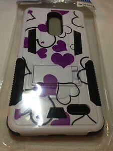 White Purple Heart Hard Plastic Phone Case For ZTE GRAND X4