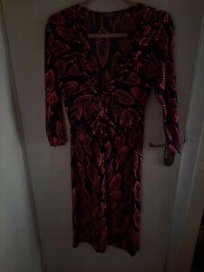 Onjenu London Dress Size 14 Navy & Coral