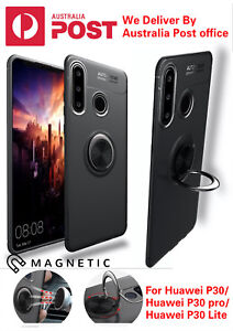 For Huawei p30/30pro/30Lite Magnetic Case Metal Cover With Car Ring Holder case