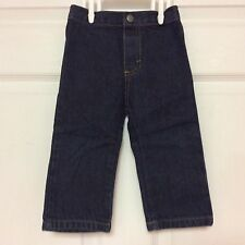 IZOD infant boys blue jeans size 12 months dark wash all cotton 105