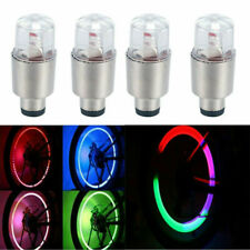 4X LED Motorcycle Car Wheel Colorful Light Bulb Tire Air Valve Stem Cap Lamp NEW