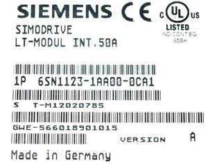 Siemens AC Servo Drive 6SN1123-1AA00-0CA1 *REPAIR EVALUATION ONLY* [PZJ]