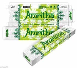 Sticks Incense Amritha 24 Natural Jasmine Joss Genuine 30g Stick Pack Sri Lanka