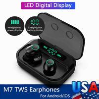 TWS IPX7 Earbuds Bluetooth 5.0 Headset Wireless Earphones Stereo Sport Headphone
