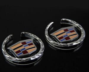 1Pair New Side Decoration Car Emblem Badge Sticker for Cadillac XTS CTS ATSL SRX