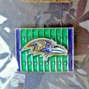2013 Baltimore Ravens logo yardage lapel pin NFL