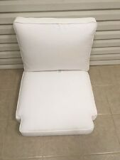 2 pc Frontgate Keningston Outdoor Patio Deck Lounge Chair Cushions 28x28 White