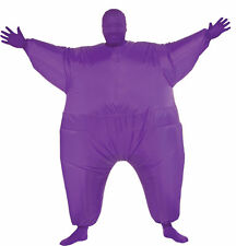 Inflatable Skin Suit Adult Purple Blow Up Fat Suit Fancy Dress Halloween Costume