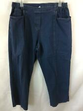 "C D Daniels jeans size 2X blue denim stretch side elastic 4 pockets 28"" inseam"