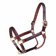 Tough 1 Royal King Braided Leather Halter Brown