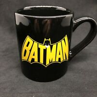 Batman Coffee Mug 2011 Black With Retro Logos, Made By Silver Buffalo, DC Comics