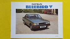 Datsun Bluebird Saloon Estate 1.8 brochure sales catalogue July 1982 MINT Nissan