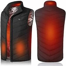 Electric USB Heated Vest Jacket Warm Up Heating Pad Body Warmer Winter Jacket UK