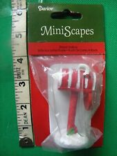 Darice MiniScapes ~ Striped Mailbox ~ Christmas Figurine ~ Open Door w/Letter