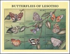 Lesotho 1997 Butterflies/Butterfly/Insects/Nature/Conservation 9v sht (b563)