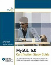 MySql 5. 0 Certification Study Guide Paperback Paul DuBois