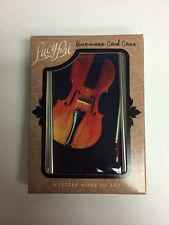 Business Card Case Violin Theme Lucy Lu Designs Stainless Steel Brand New