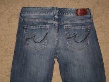 Express Size 2 Short Dark Blue Destroyed Stretch Bootcut Womens Denim Jeans