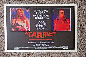 Carrie Movie poster Lobby Card #1 Sissy Spacek John Travolta