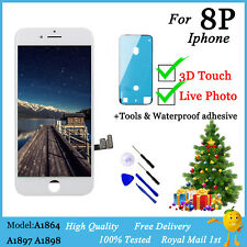 3D Touch-For iPhone 8 Plus LCD Touch Screen Digitizer Replacement White+OEM IC