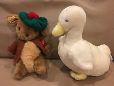 EDEN PLUSH TOYS BEATRIX POTTER Peter Rabbit Benjamin BUNNY & DUCK F Warne
