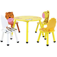 Charles Bentley Kids Jungle Safari Table & 2 Or 4 Chairs Set Made of Wood