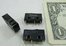 Lot 10 Mulon Button Micro Switches, Microswitches SL-101, 5 Amp 250VAC, Robotics