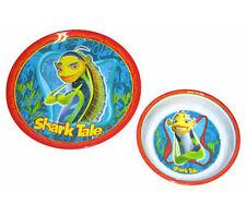 SHARK TALE 2 piece Dinnerware Set Plate & Bowl NEW