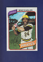Mike Easler 1980 TOPPS Baseball #194 (NM+) Pittsburgh Pirates